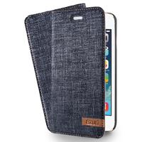 Azuri mobile phone case: Wallet cover voor Apple iPhone 5/5S/SE, blauw