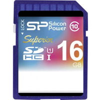 SiliconPower Superior UHS-I 16 GB SDHC CL10 - memory card