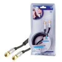 HQ coax kabel: 2.5m F/F - Zwart
