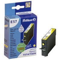 Pelikan Inktcartridge T07144010 geel