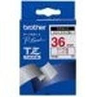 Brother labelprinter tape: Gloss Laminated Labelling Tape - 36 mm, Red on White