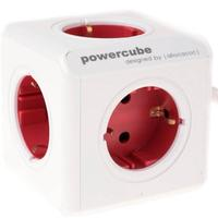 Allocacoc power extrention: PowerCube Original USB Type F, red - Rood, Wit