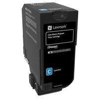 Lexmark cartridge: 16K cyaan retourprogramma tonercartridge (CX725)