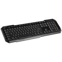 König toetsenbord: USB multimedia keyboard, US - Zwart