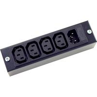Neets stekkerdoos: IEC mains adaptor - Zwart