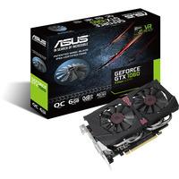 ASUS videokaart: GTX1060-O6G-9GBPS - Zwart, Rood