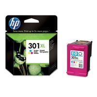 HP inktcartridge: 301XL originele high-capacity drie-kleuren inktcartridge - Cyaan, Magenta, Geel