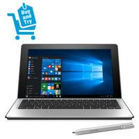 HP laptop: Elite x2 1012 G1 Core M5 256GB - Windows 10 Pro + 4G + Travel Keyboard & Active pen - BUY AND TRY NU - Zilver