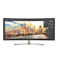 "LG monitor: 38"" Class 21:9 UltraWide WQHD+ IPS Curved LED Monitor (37.5"" Diagonal) - Zwart, Zilver, Wit"