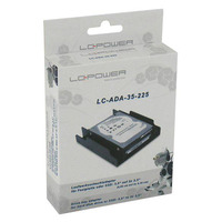 LC-Power drive bay: LC-ADA-35-225 - Zwart