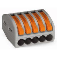 Wago 222-415 Elektrische aansluitklem - Grijs, Oranje
