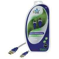 HQ HDMI kabel: SV-430-1.5 - Blauw, Grijs