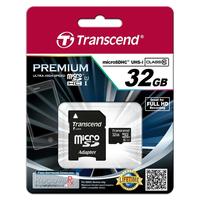 Transcend flashgeheugen: 32GB microSDHC Class 10 UHS-I - Zwart