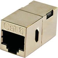 Schwaiger kabel adapter: 2 x RJ45 - Zilver