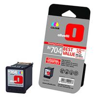 Olivetti inktcartridge: IN704 High capacity colour ink-jet cartridge - Cyaan, Magenta, Geel