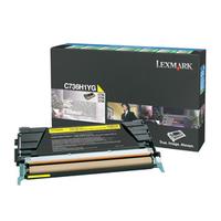 Lexmark cartridge: C736, X736, X738 10K gele retourpr. tonercartr. - Geel
