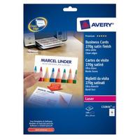 Avery Visitekaartjes, gladde rand, Kleurenlaser printer, Kopieerapparaat, ZW/W Laser printer, 270 g Visitiekaart