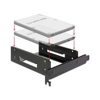 DeLOCK drive bay: Installation frame for 2 x 2.5″ HDD into the PC slot - Zwart