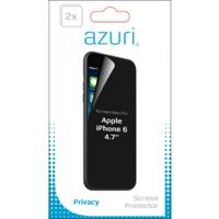 Azuri screen protector: Duo screen protector Privacy voor Apple iPhone 6 - 4.7 - Transparant