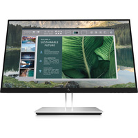 HP EliteDisplay E24u G4 FHD USB-C Monitor - Zwart,Zilver