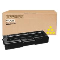 Ricoh cartridge: Toner cyan (2.5K) - Geel