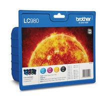 Brother inktcartridge: Voordeelverpakking (B/Y/C/M) - Zwart, Cyaan, Magenta, Geel