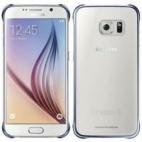 Samsung mobile phone case: Clear Cover voor Galaxy S6 - transparant - Blauw, Transparant