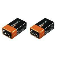 Duracell batterij: Alkaline, 9v, 2st - Zwart, Oranje