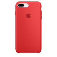 Apple mobile phone case: Siliconenhoesje voor iPhone 7 Plus - (PRODUCT)RED - Rood