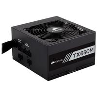 Corsair TX650M power supply unit - Zwart
