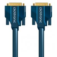 ClickTronic DVI kabel : 3m DVI-D Connection - Blauw