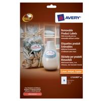 Avery Removable Product Labels Etiket - Wit