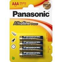 Panasonic batterij: 1x4 LR03APB - Blauw, Goud
