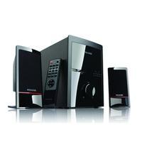 Microlab luidspreker set: M700U, 2.1, 46W RMS, 35Hz-20kHz, >75dB, RCA, 3.5mm, USB, SD-flash, 4400g, black - Zwart