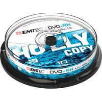 Emtec DVD: DVD+RW, 4.7GB, 1-4x, 10pcs. - Zilver