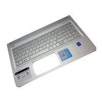 HP notebook reserve-onderdeel: Top Cover & Keyboard (Nordic) - Zilver