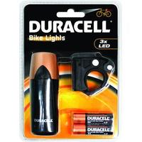 Duracell zaklantaarn: 3 LED Front Bicycle Light - Zwart