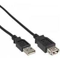 DeLOCK USB kabel: USB 2.0 M/F 0.5m - Zwart