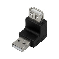 LogiLink kabel adapter: USB 2.0 A/A - Zwart