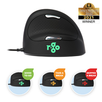 R-Go Tools R-Go HE Break Mouse, Ergonomische, Anti-RSI software, Medium (Handlengte 165-185mm), Rechtshandig, .....