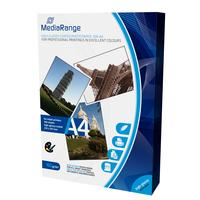 MediaRange fotopapier: DIN A4 Photo Paper for inkjet printers, high-glossy coated, 160g, 100 sheets - Wit