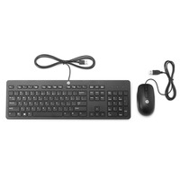 HP toetsenbord: Slim USB Keyboard & Mouse - Zwart, QWERTY