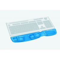 Fellowes polssteun: Health-V, Microban, 466 x 86 x 16mm - Blauw