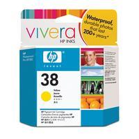 HP inktcartridge: 38 originele gele pigmentinktcartridge - Geel