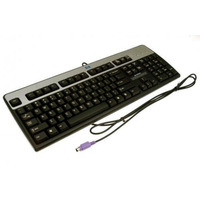 HP PS/2 `Windows` keyboard assembly (Silver and Carbonite Black) - Has attached 1.8M (6.0ft) cable with 6-pin .....