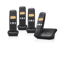 Gigaset dect telefoon: A250A Quattro Zwart