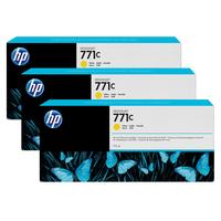 HP inktcartridge: 771C gele DesignJet inktcartridges, 775 ml, 3-pack - Geel