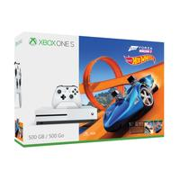 Microsoft spelcomputer: Xbox One S Forza Horizon 3 Hot Wheels Bundle 500GB - Wit