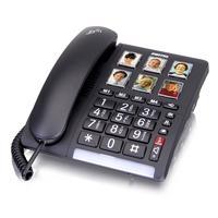 SWITEL dect telefoon: Handsfree function, 40 dB, LED, 737g, black - Zwart