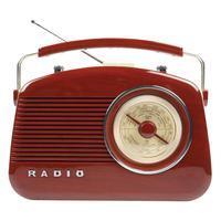 Konig Retro Design AM / FM Tafelradio, bruin